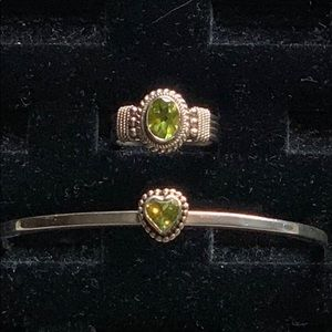 Jewelry - 💍Sterling Silver with Peridot. Make offers 😊